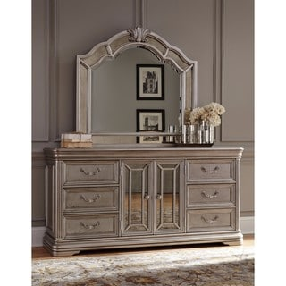 Signature Design By Ashley Birlanny Silver Dresser With Mirror Free Shipping Today Overstock