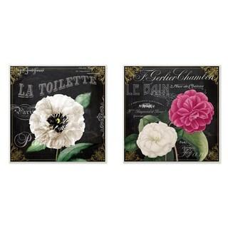 'La Toilette Carnations Parisienne' 2-piece Wall Plaque Art Set