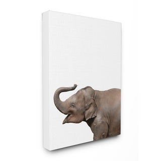 Baby Elephant' Studio Photo Stretched Canvas Wall Art