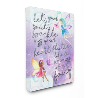 Let Your Soul Sparkle Fairies' Painting Stretched Canvas Wall Art