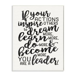 'You Are A Leader' Typography Wall Plaque Art