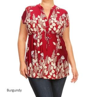Women's Plus-size Floral Paisley Pattern Tunic