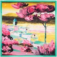 Van Gogh Inspired City Scene Silk Touch Scarf