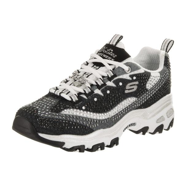 Women's Skechers D'Lites Diamonds Are Forever Sneaker Black