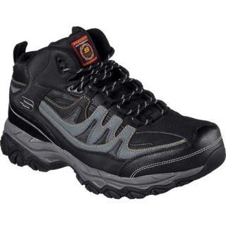 Men's Skechers Work Relaxed Fit Holdredge Rebem Steel Toe Hiker  Black/Charcoal (More options