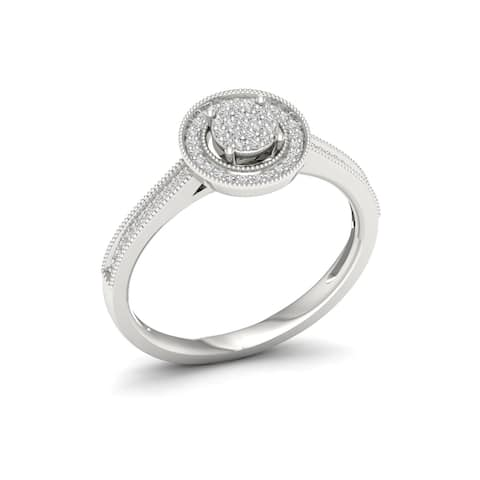 1/5ct TDW Diamond Engagement Ring in Sterling Silver