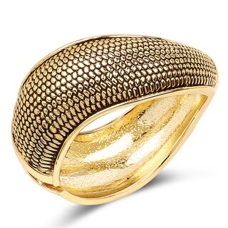Liliana Bella Oxidised Goldplated Cuff Bracelet