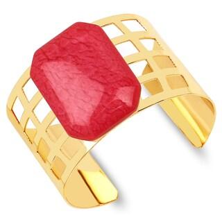 Liliana Bella Goldplated Red Stone Cuff Bracelet