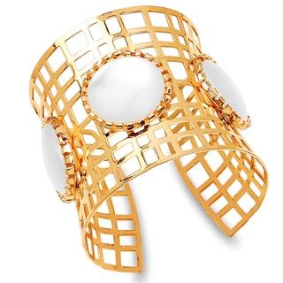 Liliana Bella Goldtone Mother of Pearl Cuff Bracelet