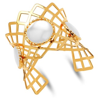 Liliana Bella Gold-plated and Mother of Pearl Cuff Bracelet
