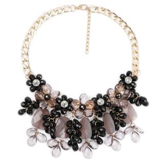Liliana Bella Women's Black/Brown Glass Stone Handmade Bib Necklace|https://ak1.ostkcdn.com/images/products/14286353/P20870781.jpg?impolicy=medium