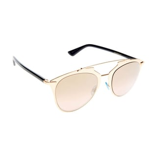 Dior Dior Reflected/S 321 0R Copper Gold Blue Metal Aviator Sunglasses Gold Gradient Pink Lens