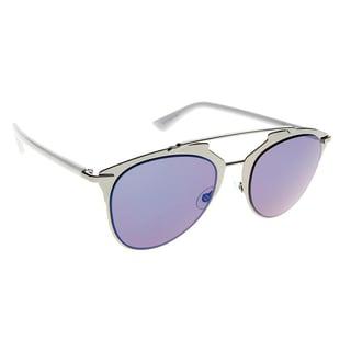 Dior Dior Reflected/S TUY XT Dark Ruthenium Blue Metal Aviator Sunglasses Sky Blue Mirror Lens