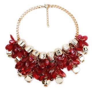 Liliana Bella Maroon Glass Bib Necklace|https://ak1.ostkcdn.com/images/products/14287261/P20871708.jpg?impolicy=medium