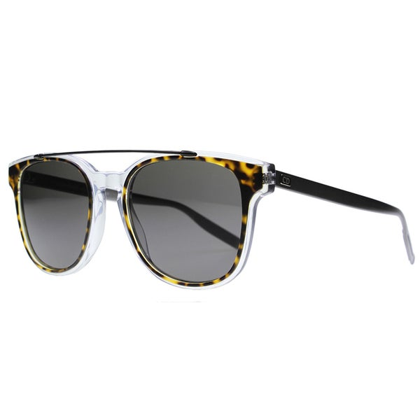 56ec218f83 Dior BlackTie211S LCQ NR Havana Crystal Ruthenium Plastic Square Sunglasses  Grey Lens