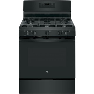GE Black 30-in Freestanding Gas Range