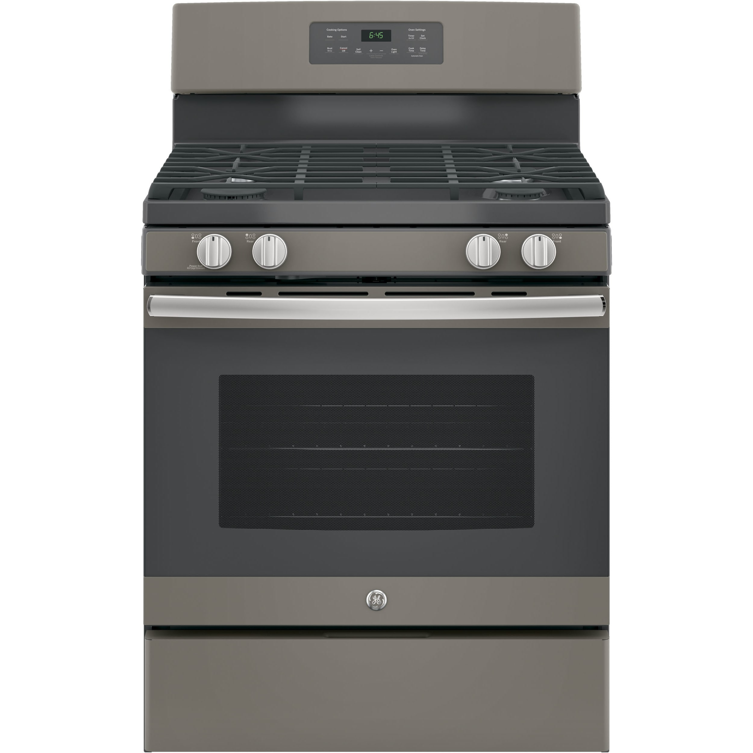 GE Free-standing Gas Range (30 inches) (slate), Grey (Metal)
