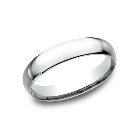Men's Platinum 4mm Midweight Comfort-fit Wedding Band