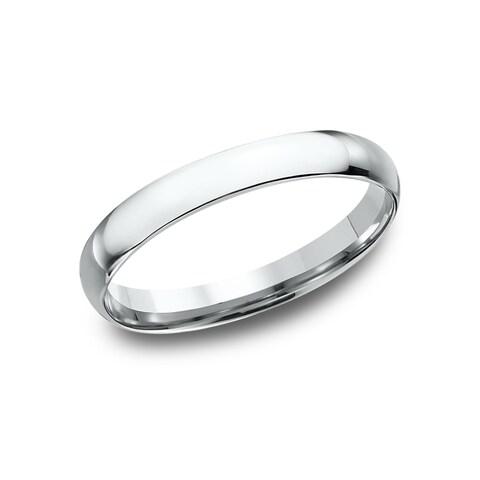 Men's Platinum 3-millimeter Midweight Comfort-fit Wedding Band
