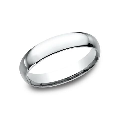 Platinum 4-millimeter Midweight Comfort-fit Women's Wedding Band