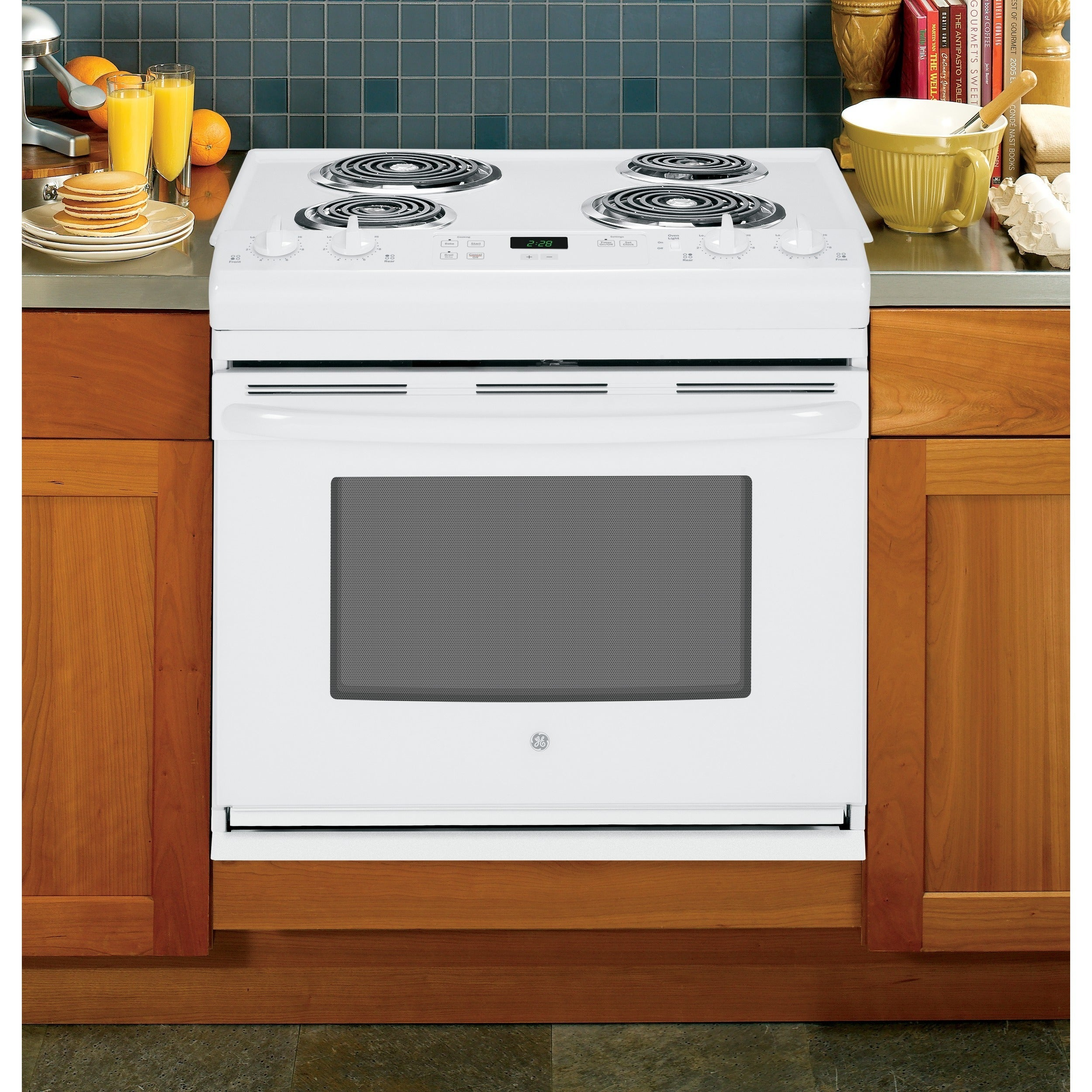 GE White 30-in Drop-In Electric Range (White) (Electronics)