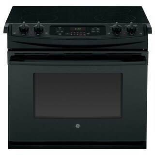 GE Black 30-in Drop-In Electric Range