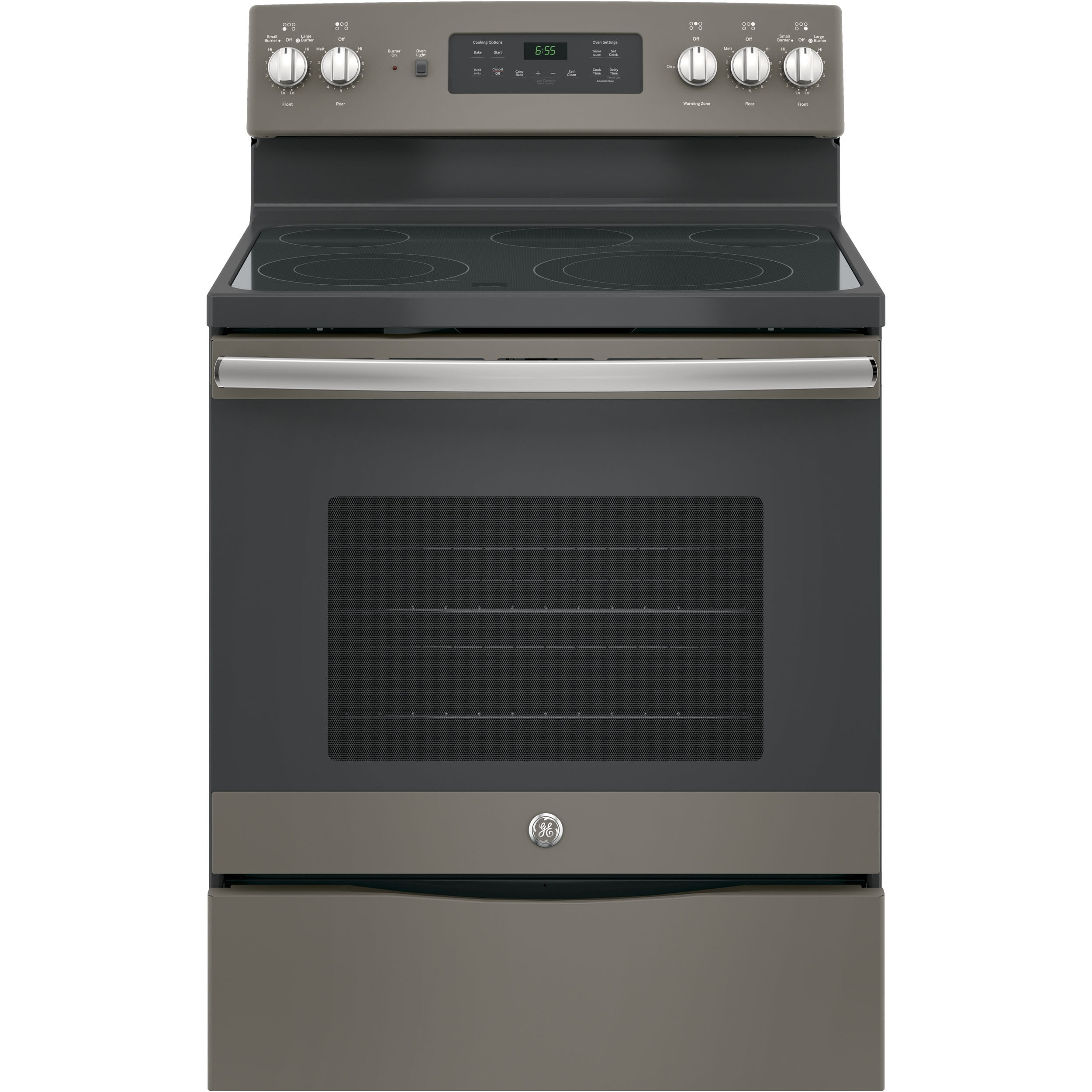 GE 30-inch Free-Standing Electric Convection Range (Slate...