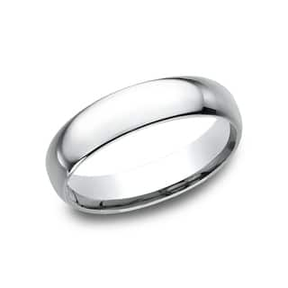 womens platinum 5mm midweight comfort fit wedding band - Platinum Wedding Rings