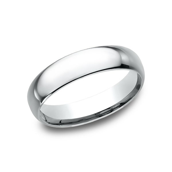 Men's Platinum 5-millimeter Midweight Comfort-fit Wedding Band. Opens flyout.