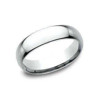 Platinum Midweight Comfort-fit Wedding Band