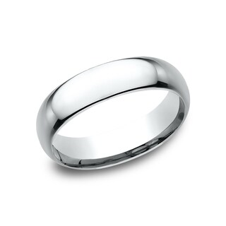 Men's Platinum 6mm Midweight Comfort-fit Wedding Band (More options available)