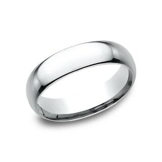 Men's Platinum 6mm Midweight Comfort-fit Wedding Band