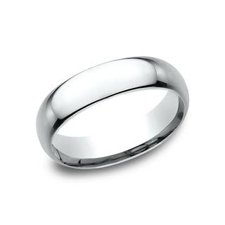 Men S Platinum 6mm Midweight Comfort Fit Wedding Band