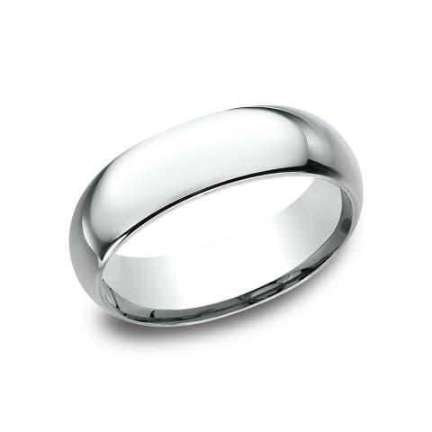 Platinum Men's 7 mm Midweight Comfort-fit Wedding Band