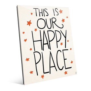 'This is Our Happy Place -Stars' Wall Art on Glass