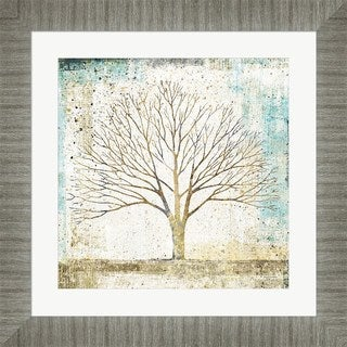 Avery Tillmon 'Solitary Tree Collage' Framed Art
