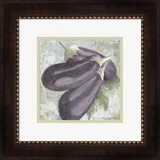 Megan Duncanson 'Buon Appetito Eggplant' Framed Art