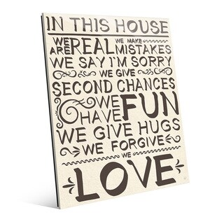 'In This House We Are Real in Ink' Glass Wall Art (2 options available)
