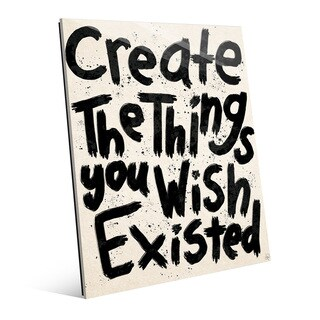 'Create Things You Wish Existed' Multicolored Glass Wall Art (2 options available)