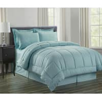 8-Piece Vine Turquoise Down Alternative Bed-In-Bag