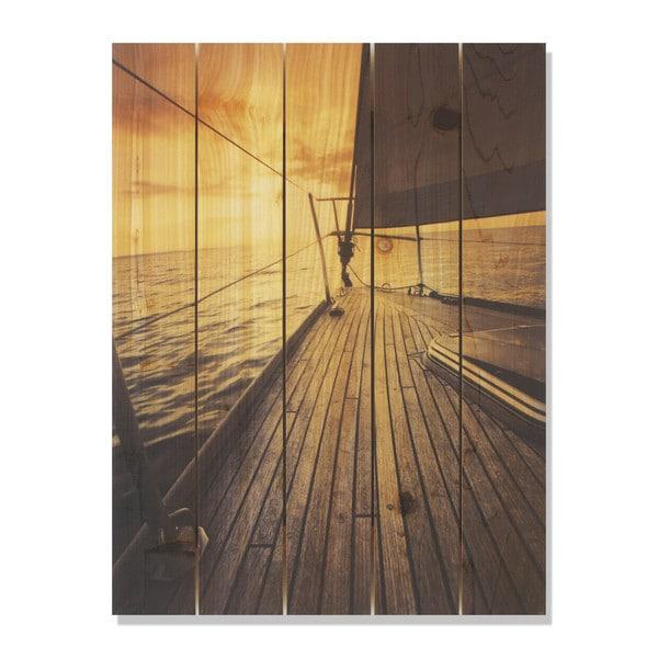 Port Side 28x36 Indoor/Outdoor Full Color Cedar Wall Art