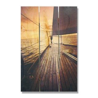 Port Side 16x24 Indoor/Outdoor Full Color Cedar Wall Art