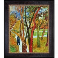 Vincent Van Gogh 'The Walk - Falling Leaves' Hand Painted Framed Oil Reproduction on Canvas