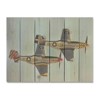 Wing Man 33x24 Indoor/Outdoor Full Color Cedar Wall Art