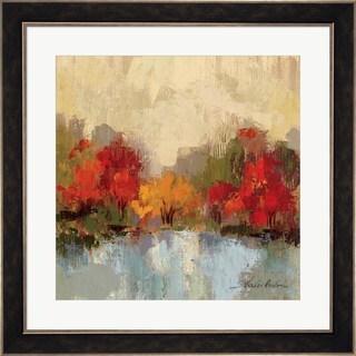 Silvia Vassileva 'Fall Riverside I' Framed Art