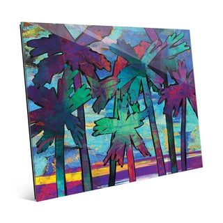 'Psycho Palms Alpha' Glass Wall Art Print