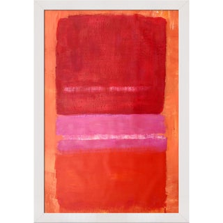 Mark Rothko 'Untitled (Red), 1956' Hand Painted Framed Oil Reproduction on Canvas
