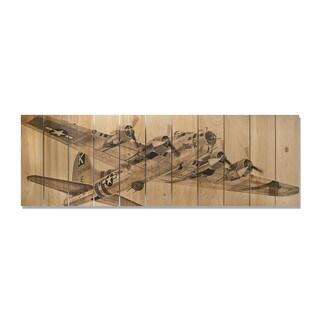 Air Raid 60x20 Indoor/Outdoor Full Color Cedar Wall Art