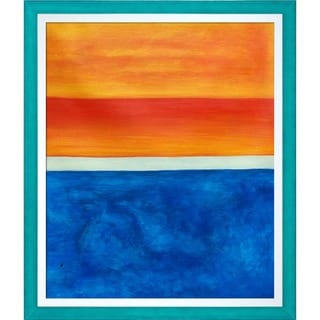 Mark Rothko 'Yellow, Red, Blue, 1953' Hand Painted Framed Oil Reproduction on Canvas