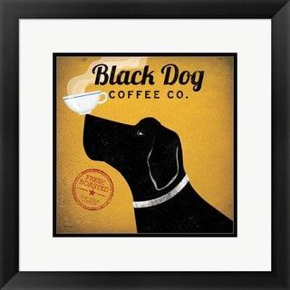Ryan Fowler 'Black Dog Coffee Co.' Framed Art